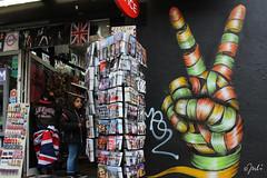 Victory (JuliSonne) Tags: streetart urbanekunst mauer wall graffiti colors scene urban pasteup stencil street london ottoschade victory