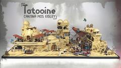 Tatooine - Cantina Mos Eisley (@ctr_bricks) Tags: lego star wars mos eisley tatooine desert moc band cantina street sand