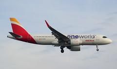 Iberia, EC-NFZ, MSN 10002, Airbus A 320-251N, 17.11.2019, HAM-EDDH, Hamburg (Named: Vigen De Loreto & oneworld livery) (henryk.konrad) Tags: iberia ecnfz msn10002 airbus a320neo 320251n neo hameddh hamburg henrykkonrad oneworld