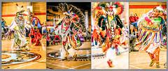 Pow Wow dancers collage, Vancouver. (gks18) Tags: canon collage dancers powwow lightroom nik firstnation regalia people colours