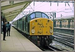 Going Green (david.hayes77) Tags: crewe cheshire d210 210 40010 class40 englishelectric type4 1974 green wcml westcoastmainline empressofbritain highspeedektachrome kodak zenite 1coco1