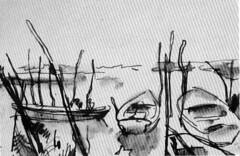 1968 ? Grado pennarello (vidavittorio@gmail.com) Tags: diamante luigidiamante disegno osteria barche figura