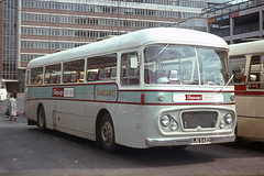 East Kent Road Car Co . GJG642D . Victoria Coach Station , London .  August-1969 . (AndrewHA's) Tags: coach victoriacoachstation london bus eastkent road car gjg642d aec reliance parkroyal skyways coachair service