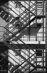 Lisbon 2019 - Monochrome - View from a rear window (Gareth Wonfor (TempusVolat)) Tags: garethwonfor tempusvolat mrmorodo gareth wonfor tempus volat mono monochrome black white contrast steps balcony fireescape rear rearview unseen