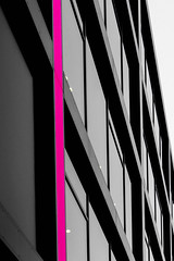 Abstract Architectural Photography 56 (Récard) Tags: abstract architecture architektur geometry magenta facade glas selectivecolour perpendicularline windows minimalism minimalistic structure