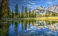 Relax (giannipiras555) Tags: lago alberi dolomiti trecime montagna landscape paesaggio panorama natura cielo nuvole riflessi antorno autunno foliage nikon