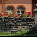 20190726_10 Fancy old stable building, stone wall, & pink flowers | Kinnekulleleden, Västergötland, Sweden