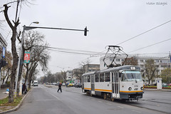 Tatra T4R - 3356 - 44 - 17.11.2019 (2) (VictorSZi) Tags: romania transport tram tramvai tatra tatrat4r autumn toamna nikon nikond5300 militari noiembrie november stb