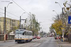 Tatra T4R - 3356 - 44 - 17.11.2019 (4) (VictorSZi) Tags: romania transport tram tramvai tatra tatrat4r autumn toamna nikon nikond5300 militari noiembrie november stb