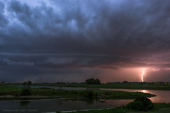 Shelfcloud and Lightning (mesocyclone70) Tags: storm thunderstorm lightning shelfcloud river landscape stormchase chasing longexposure therebeastormabrewin