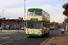 Leyland Atlantean at Ipswich (Chris Baines) Tags: former ipswich buses leyland atlantean mrt 69 iipswich railway station transport museum running day