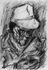 1969 ? Figura. pastello (vidavittorio@gmail.com) Tags: diamante luigidiamante disegno osteria barche figura