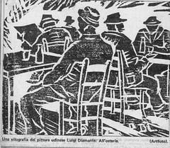 1968  ? All'osteria xilografia (vidavittorio@gmail.com) Tags: diamante luigidiamante disegno osteria barche figura