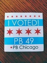 pb chicago sticker (jima) Tags: chicago illinois 2019 voting sticker pbchicago