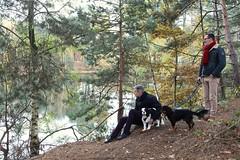 Toi et moi...dix-neuf ans déjà... # 3 (just.Luc) Tags: man male homme hombre uomo mann mannen men männer hommes hombres uomini dogs honden chiens hunde outside nature natuur trees bomen arbres bäume