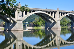 Two Bridges and a piece of history (Les Traveller) Tags: lancaster pa pennsylvania susquahanna