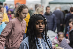 Young lady with braids (Frank Fullard) Tags: frankfullard fullard candid street portrait lady braids hair color colour irish ireland eyecontact face look expression castlebar mayo