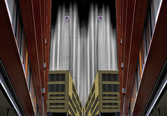 Double Marriot (beelzebub2011) Tags: netherlands holland rotterdam selectivecolor street mirrorimage marriothotel