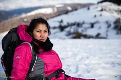 Repos (Kilian Sanlis) Tags: neige snow winter hiver la bresse vosges nature wild motherwood hiking randonnée woman portrait