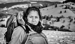 Sharon (Kilian Sanlis) Tags: neige snow winter hiver la bresse vosges nature wild motherwood hiking randonnée woman portrait
