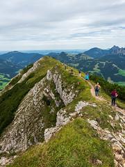 Ridge Walk, Iselergrat - Austria (Sebastian Bayer) Tags: wanderer gratwanderung österreich felsen berge berg panorama natur ausblick bäume iseler wandern grat ausflug tal himmel drausen wasser landschaft wolken stein