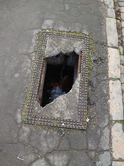 Photo of Damaged Manhole Cover