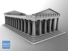 My 3D work: Ancient Greek Temple (Untextured) (Millo Copperfield (Jamill Copperfield)) Tags: millocopperfield jamillcopperfield 3d modeling blender temple ancient greek second life game simulator