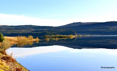 Carron Valley (mactography) Tags: fintry carron valley scotland autumn landscape reflection water loch
