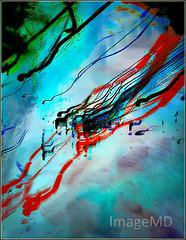 Auto Streaks (ImageMD) Tags: blur timelapse night miami florida cars automobiles streak negatone motophoto motion painterly rain wet