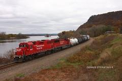 CP 3027, WB, DAKOTA, MN 11-2-19 (TRAINFLAMES) Tags: canadianpacific cp freighttrain train gmdd gp382 mississippiriver dakota minnesota