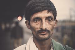 train platform meeting -- 3 (andy_8357) Tags: india train platform uttar pradesh varanasi man gentleman moustache sony a6000 alpha 6000 street portrait portraiture sigma 60mm f28 art dn