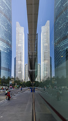 Twins Tower (kevinho86) Tags: city urban colour canon cityscapes wideangle lightshadow canton 珠江新城 pearlrivernewtown eosr guangzhou reflection architecture downtown 城市 169 建築 都會 ef1635f4lusm