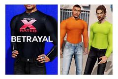 Landon Mock Neck @ MAN CAVE (Rhuigi Bourne) Tags: betrayal betrayalsl fw19 menswear mens men streetwear fashion runway designer xrated monogram