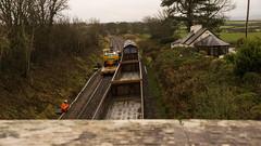 View from a bridge - Take 2. (peterdouglas1) Tags: bridges ews 66125 networkrail engineeringtrains