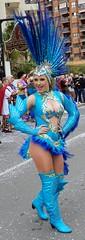 Benidorm Fancy Dress - 2019 (Curryfan) Tags: benidorm dancer showgirl sassy fancydress parade fiesta legs boots boobs sexyboots sexy