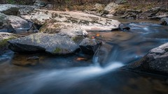 Little Waterfall on the Hawlings River (John Brighenti) Tags: red flickr autumn fall maryland brookeville november leaves forest trees river creek rapids falls waterfalls rocks waterfall stones boulders stream brook longexposure hoya ndfilter outdoors nature hikingphotography landscape sony alpha a7rii ilce7rm2 sel24f14gm woods outside
