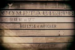 Crise d'Identité (Katrina Wright) Tags: dsc7107edit avignon france sign fence store storefront defencedafficher writing handwrittensign