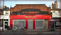 Escapade` Camden Town`Closed Down (roll the dice) Tags: camden nw1 shops spooky scared vanished sad mad colour urban england chalkfarm uk classic art wigs masks horror administrators customers online premises trading closed shut insolveplus costume staff money decorate canon tourism tourists windows bikes empty quiet lights shutters chimney surreal sign shopping market
