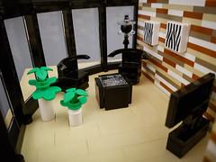 Curry House MOC. Livingroom chairs and table. (betweenbrickwalls) Tags: lego afol moc living livingroom furniture design interiordesign