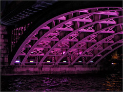 Day 321 Arches (Dominic@Caterham) Tags: bridge lights river thames london water