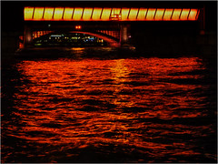 321.4 Red river (Dominic@Caterham) Tags: thames london river water lights bridge reflections