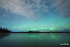 Frozen Chena Lake (kevin-palmer) Tags: alaska northpole chenalake northernlights aurora auroraborealis green color colorful night sky stars starry space astronomy astrophotography nikond750 sigma14mmf18 october fall autumn frozen ice icy cold clouds