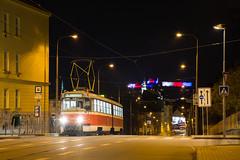 DPMB 1054, Tatra K2T, linka 3, Dětská Nemocnice (cz.EightyFour) Tags: brno k2t tatra dpmb šalina tramvaj tram streetcar detskanemocnice 17listopad špilberk trikolora