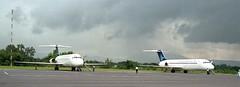 PK-GNC & PK-GNU Douglas DC-9-32s of Garuda Indonesia at Yogyakarta 15 11 88