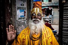 Sadhu. Kathmandu, Nepal (ravalli1) Tags: nepal kathmandu people portraits sadhu streetphotography hinduism religious travel thamel
