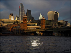 321.1 Thames twilight (Dominic@Caterham) Tags: thames river city wilight buildings bridge water reflections