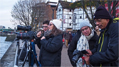 321.2 Out and Abouters (Dominic@Caterham) Tags: people cameras thames river path buildings southbank tripods