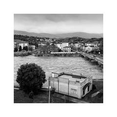 Arno river in full flood (Luca Cesari) Tags: olympus olympuspenf penf 35mm 17mm 43 micro43 bw biancoenero jpg fiumearno arno piena water