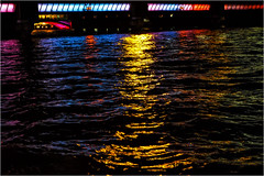321.5 Illuminated river (Dominic@Caterham) Tags: water thames lights river london bridge colours