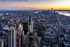 New York Sunset (20191116-DSC09420-Edit) (Michael.Lee.Pics.NYC) Tags: newyork esb empirestatebuilding nomad tribeca lowermanhattan wtc worldtradecenter eastriver hudsonriver statueofliberty aerial sunset architecture cityscape sony a7rm4 fe24105mmf4g